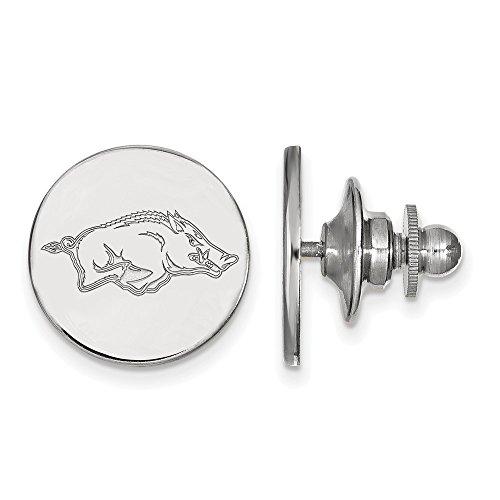 University of Arkansas Razorbacks Lapel Pin in Sterling Silver 2.28 gr