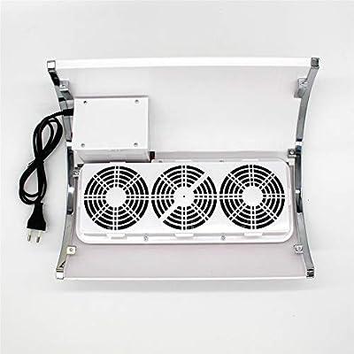 Poderoso 3 ventilador Colector de succión de polvo de uñas con 2 ...