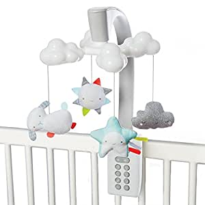 Skip Hop Moonlight & Melodies Projection Mobile, White, Cloud