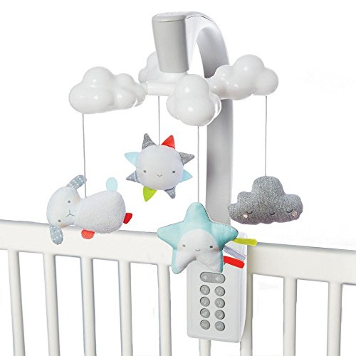 Skip Hop Moonlight & Melodies Projection Mobile, White, Cloud (Projection Baby Mobile)
