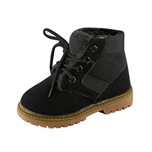 Winter Kinder Stiefel Schuhe,Hunpta Kinder Mode Jungen Mädchen Martin Sneaker Dicken Schnee Baby Freizeitschuhe Schwarz