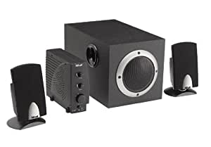 Trust SPEAKERS SOUNDFORCE 1600P 2.1 - Altavoces (20 - 20.000 Hz, Stereo, •Audio cable (3.5mm stereo - 3.5mm stereo) •Extra cables to connect to gaming consoles, 1600 W, 186 x 310 x 183 mm, 2.1)