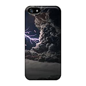 Flexible Tpu Back Case Cover For Iphone 5/5s - A Lightning Storm Created In The Ashes by ruishername