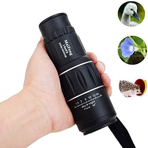 ZGQA-GQA 16 x 52 Monocular Telescope Duple Focus Green Film Hunting Low Wanton Level Night Vision Binoculars for Adult by ZGQA-GQA