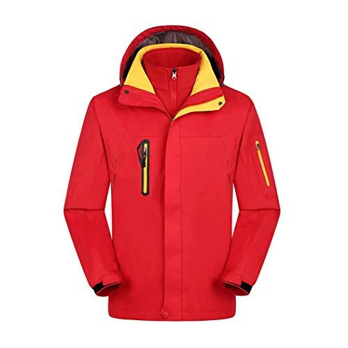 Hommes Pour Gjfeng D'alpinisme Ladies Red D'extérieur Vêtements Amovible Doublure Femmes Vestes Pêche Et De Ski 1ZwxO5wEq