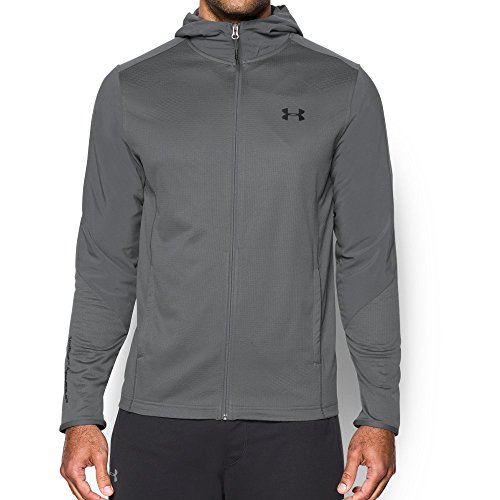 - Under Armour Men's ColdGear Infrared Grid Hoodie, Graphite (040)/Black, Small