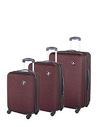 Atlantic Tribute II Hardside 3 Piece Spinner Luggage Set, Burgundy