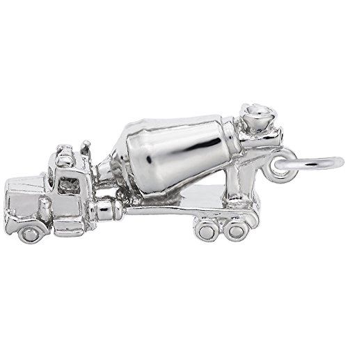 - Cement Truck Charm In Sterling Silver, Charms for Bracelets and Necklaces