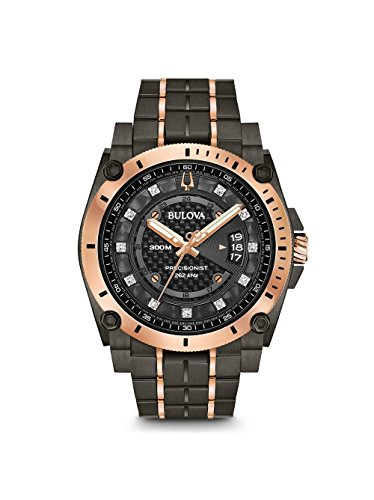 Men's Bulova Champlain Style Precisionist Diamond Watch (Bulova Mens Diamond Gold Watch)