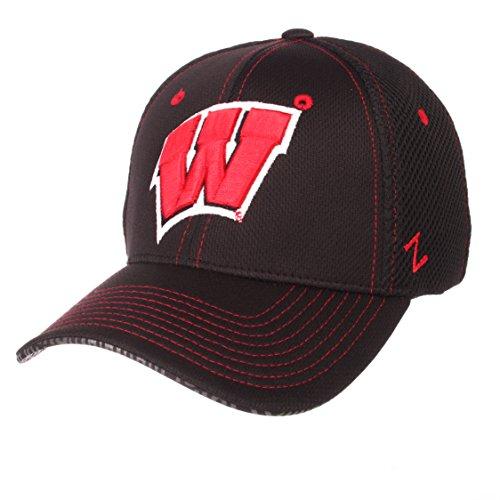 ZHATS NCAA Wisconsin Badgers Men's Undertaker Hat, Medium/Large, Black