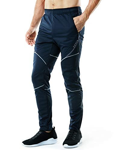Tesla TM-YKB01-NVY_3X-Large Men's Windproof Cycling Thermal Fleece Winter Pants Running Hiking Cold Active Bottoms Sweats YKB01