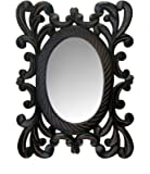 Onlineshoppee Wooden MDF Decorative Hand Carved Wall Mirror Smaller