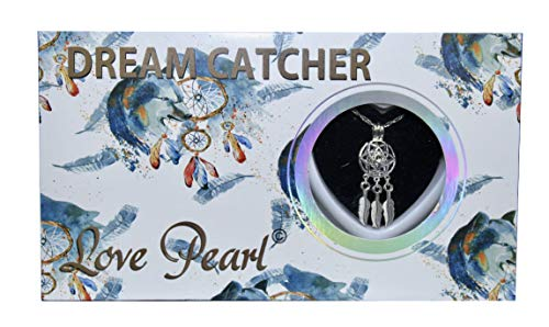 Dream Catcher Love Wish Pearl Kit Chain Necklace Kit Pendant Cultured Pearl in Kit Set with Stainless Steel Chain - Pendants Pearl Love