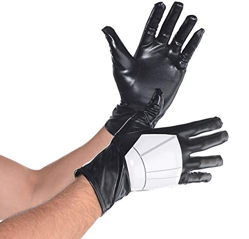 SUIT YOURSELF Star Wars Stormtrooper Gloves for Adults, One Size, Feature a Raised White Vinyl Patch on Black Gloves -