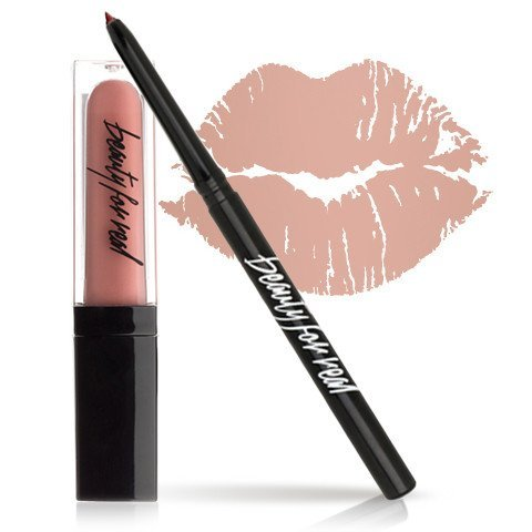 0.12 Ounce Lip Pencil - Beauty For Real Plumping Lip Kit, Nudist Perfect Nude Lip, Universal Lip Liner Pencil and Sheer Lip Gloss Set, Gift, 2 Piece Kit, Cruelty Free, 0.12 oz + 0.15 fl oz