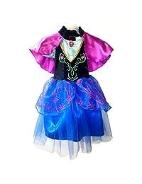 Fantasy Ruz Disfraz Anna Frozen Disney Original Niña Vestido