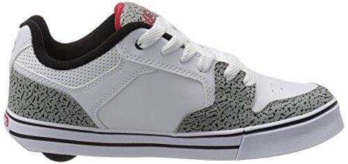 Heelys Mens Motion Plus Fashion Sneaker Bianco / Grigio / Elefante Stampato