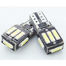 TRUST 6- Pack - LED 912 Mini Wedge conbus PROLED 3W T5 12V 6000K Bulb Landscape Cool White