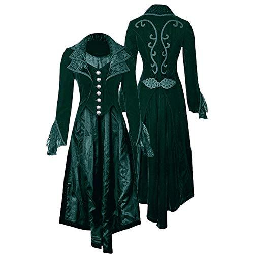 Clearance! Vintage Women Steampunk Gothic Long Velvet Medieval