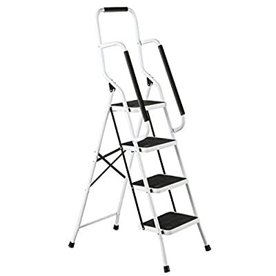 Four Step Safety Ladder with Grips