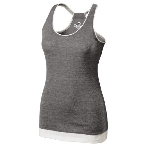 Holloway Juniors Pep Vintage Tank (X-Large, Vintage Grey/White) by Holloway
