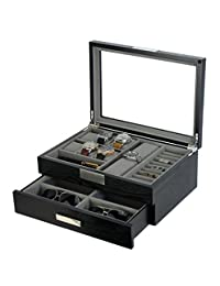 decore Bay Executive High class wood Watch, sunglasses,Cufflink Case & Ring Storage Organizer Men's Jewelry Box Gift