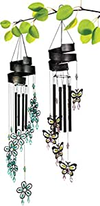 Grasslands Road Beaded Wind Chime Assortment, 24-inch, Flower And Butterfly, 4-pack