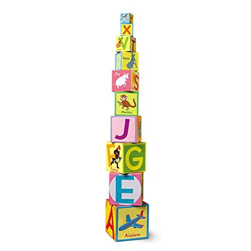 Alphabet Tot Tower - eeBoo Revised Alphabet Tot Tower