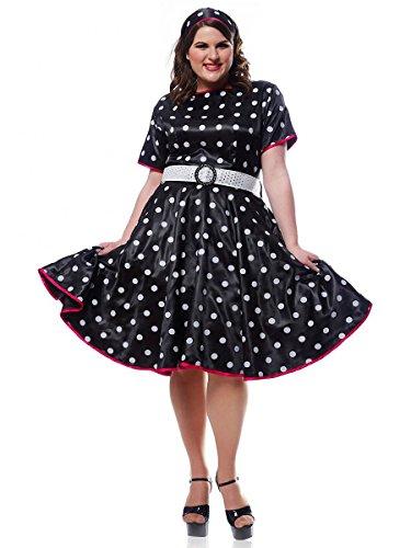 50s Costumes Ideas (Plus Size Black Retro 50s Dress Costume)
