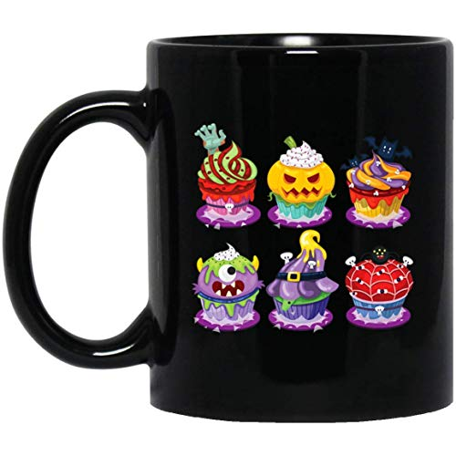 Yummy Halloween Cupcakes 11 oz. Black -