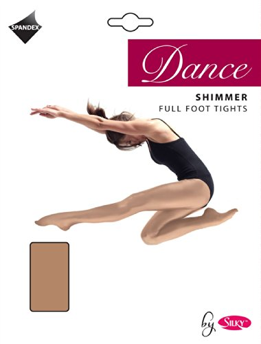 Foot Stirrup - Silky Women's Dance Shimmer Tights Full Foot Or Stirrup Foot M (36-42) Stirrup Foot Light Toast