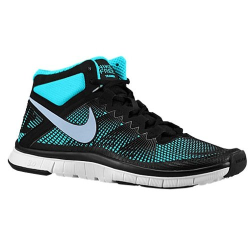 Nike Men's Free Trainer 3.0 Mid Black/Lt Armory Blue/GMM Blue Training Shoe 8.5 Men US