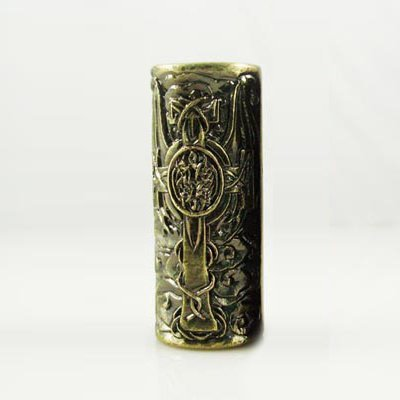 1 Celtic Skull Empaistic Copper Tattoo Grip - Tattoo Machine Supply-