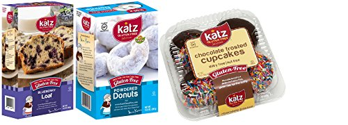 [Katz Gluten Free Variety Pack, Blueberry Loaf, Powdered Donut, & Chocolate Frosted Cupcakes,] (Angel Food Cake Costume)