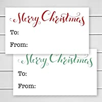 60 Christmas Gift Labels, Christmas Gift Wrapping To/From Labels (#521)