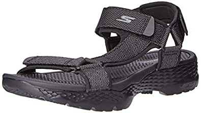 Skechers Australia GO Walk Outdoors - Nature Men's Sandal, Black/Grey, 7 US