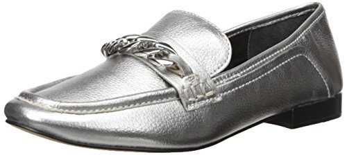 Dolce Vita Womens Cowan Loafer Flat Titanium Leather