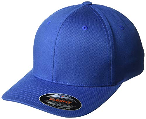 - Flexfit Unisex-Adult's Athletic Baseball Fitted, Royal, Small/Medium