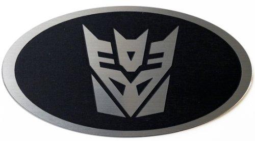 Optima Transformer (Kia Optima 2013 Steering Wheel Emblem Transformers Decepticon Black)