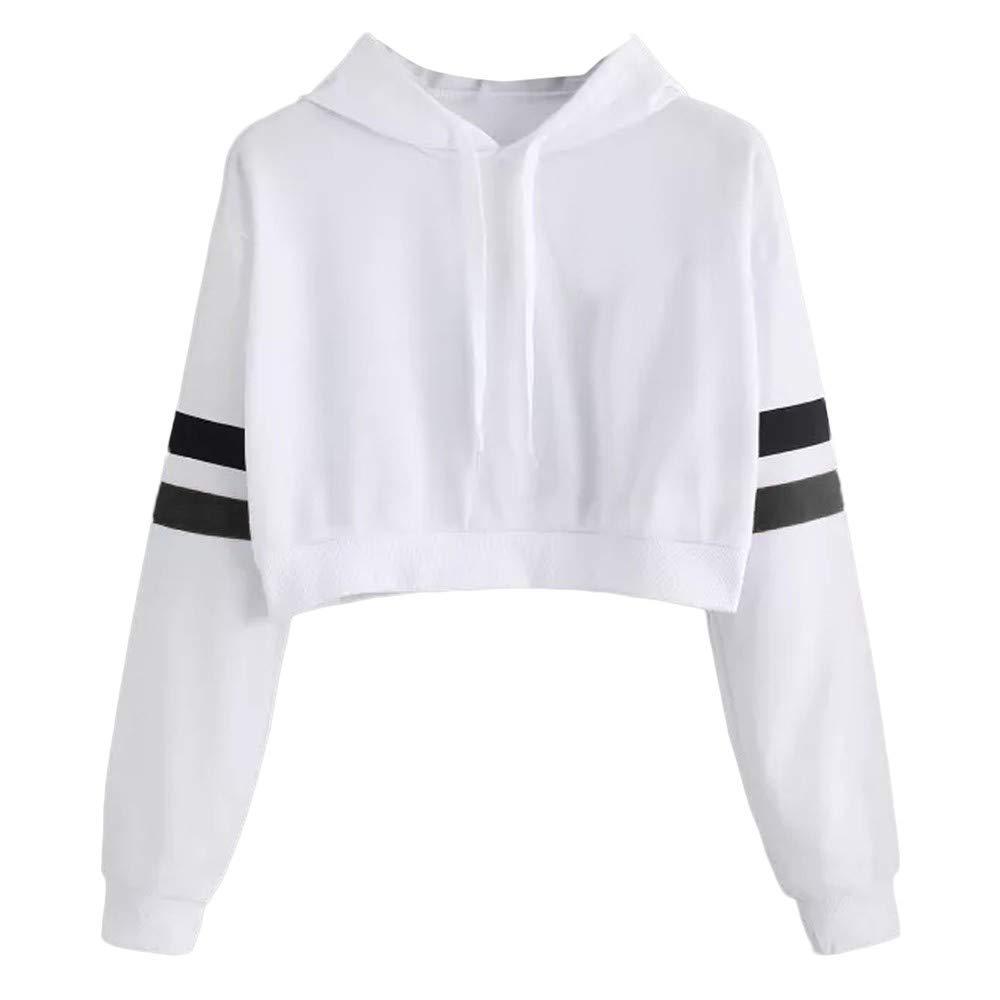 Opeer Hoodie Womens Cat Ear Solid Long Sleeve Sweatshirt Hooded Pullover Tops Blouse (XL, White)