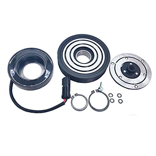 A/C AC Compressor Clutch Repair Kit - Drive Plate Hub Pulley Bearing Coil for Jeep Liberty 6 Cyl. 3.7L 2002 2003 2004 2005 ()