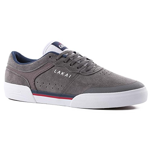 LAKAI ANCHOR STAPLE (MANCHILD) Skateboard Shoes, Grey Suede, Ltd Edition