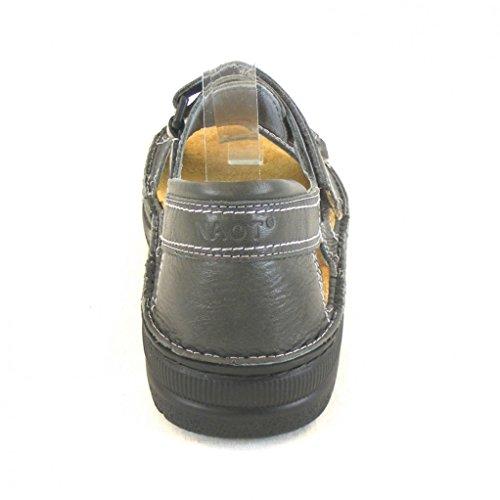 Naot Herren Schuhe Sandaletten Martin Leder Grau 13952 Wechselfußbett Freizeit