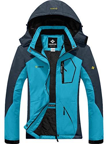 GEMYSE Women's Mountain Waterproof Ski Snow Jacket Winter Windproof Rain Jacket (Acid Blue,S) (Womens Snowboard Jacket Large)