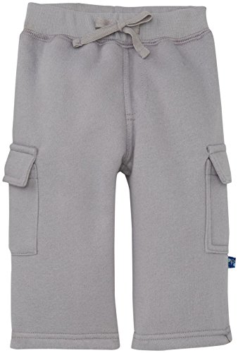 KicKee Pants Baby Boys' Cargo Sweatpants (Baby) - Feather - 0-3 Months