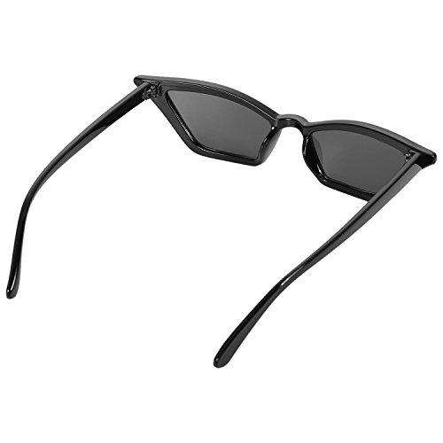 lujo Gafas Gafas vintage de Negro SODIAL sol Gafas Gafas de mujer de negras sol de de de S17077 sol de senora ojo pequenas de Negro gato retro ItIq8wZ