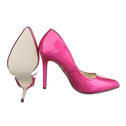 Ital-Design - Plataforma Mujer, color rosa, talla 38