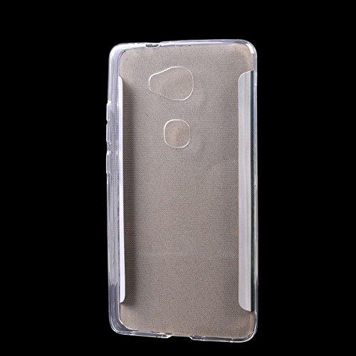 Huawei Honor 5X/ X5/ GR5 Funda,COOLKE Carcasa Transparentee Soft Silicone Cover Clear Case Funda Protectora Carcasa Blanda Caso para Huawei Honor 5X/ X5/ GR5 - Transparente