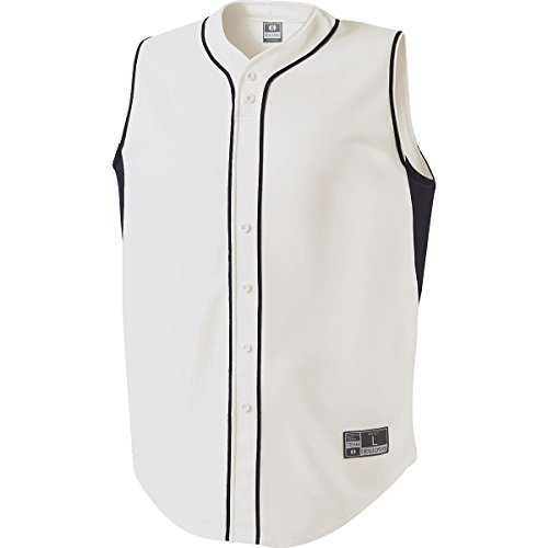 MEN'S FIERCE BASEBALL JERSEY Holloway Sportswear L White/Black by Holloway