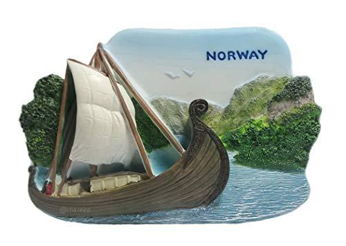 Viking Ship, Norway, Souvenir Resin 3D Fridge Magnet